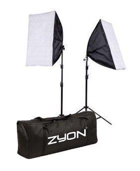2 x éclairage continu kit 50x70cm softbox studio de photo de boîte mou, ampoules lampe 5500K 85W x2 photographie 50 x 70 cm softboxes fiche Euro