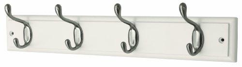 headbourne-hr4094h-4-heavy-duty-nickel-hooks-on-white-wooden-board-coat-rack