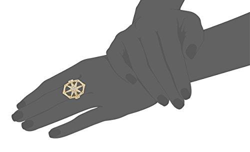 Mizuki 14k Gold and Diamond Outlined Web Starburst Ring