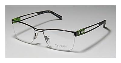 Oga 7029o Mens Rx-able Sleek Designer Half-rim Flexible Hinges Eyeglasses/Spectacles