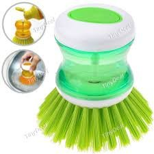 And Retails HK-CLN-SOAP-278-S3 Plastic Cleaning Brush With Liquid Soap Dispenser, Self Dispensing Cleaning Brush