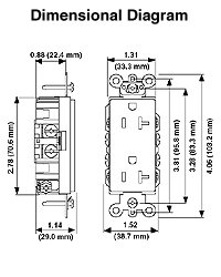 Product detail on electrical box dimensions