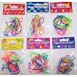 72 Shaped Rubber Bandz Lot - (6 Packs of 12 Bands) Musical, Farm, Dress, Sea, & Garden Bandz