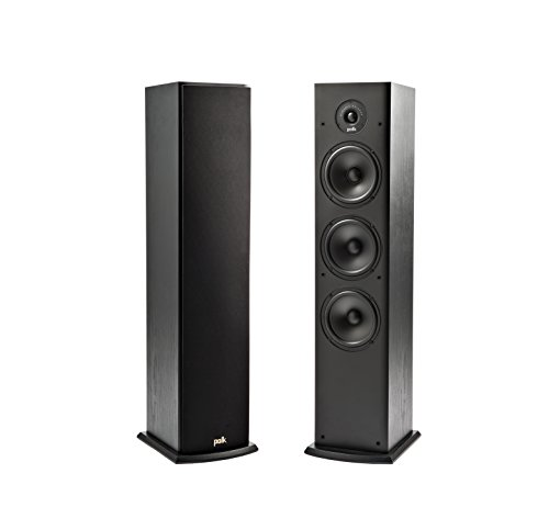 Polk Audio T50 Home Theater and Music Floor Standing Tower Speaker (Black)