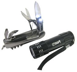 Multi-tool and (9) LED Flashlight Combo Pack by i-Zoom