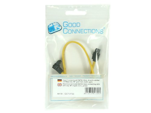 Good Connections SATA 6 Gb/s Anschlusskabel mit Metallc
