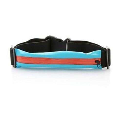 GZ Running Jogging Biking Sports Product Waist Belt Waistband With Pouch Blue Orange