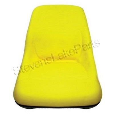 AM126865 New John Deere Riding Mower High Back Yellow Seat LT133 LTR155 SST16 + (John Deere Lawn Mower Seat compare prices)