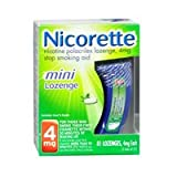 Nicorette Nicorette Mini Lozenge Mint, Mini 81 each 4 mg(Pack of 2)