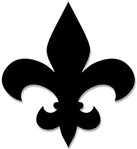 Amazon.com : Tribal Fleur De Lis Step Marker - Black 3.5