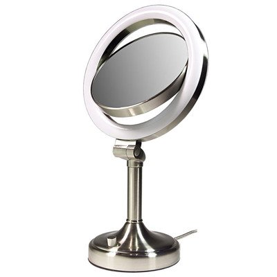 Zadro - Surround Lighted Vanity Mirror Slv410 Satin Nickel front-165058