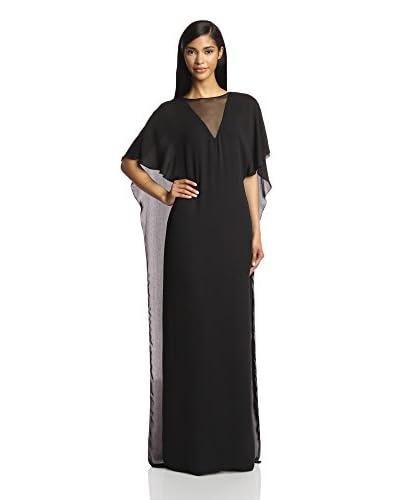 Halston Heritage Women's Drop-Back Sheer Gown
