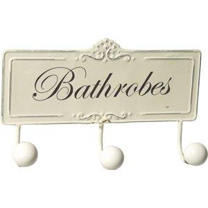 Vintage Style Triple BATHROBE Hooks Plaque