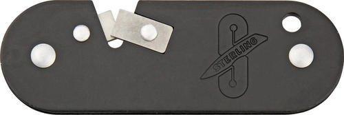 Sterling Knives Bk Knife Sharpener With Black Lighweight Aluminum Body