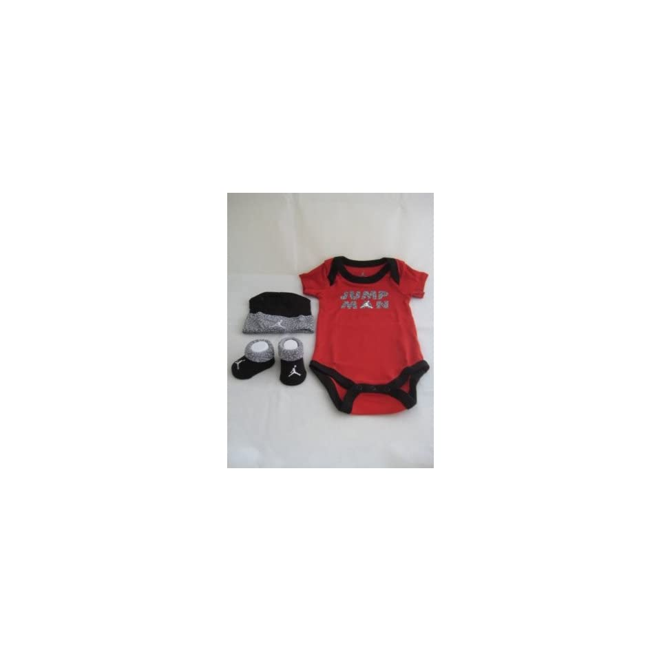 2cfae06eb2c8c4 Nike Jordan Jumpman 3 Piece Infant Set Bodysuit onesies