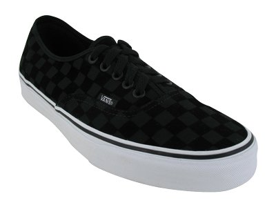 Vans Men's VANS AUTHENTIC SKATE SHOES 4 (BLACK (FLOCKED CHECKER))