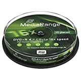 MediaRange Dvd+r 4.7GB Lightscribe MR453 - Confezione da 10