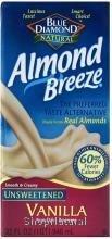 Almond Breeze, Unsweetened, Vanilla, 32 oz.