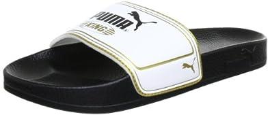 Puma King Top Slide 102553 Unisex-Erwachsene Sandalen, Schwarz (black-white-team gold 01), EU 36 (UK 3) (US 4)