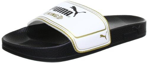 Puma King Top Slide 102553, Ciabatte da spiaggia uomo, Nero (Schwarz (black-white-team gold 01)), 37