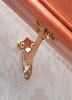 Stair Brackets Bright Solid Brass, Handrail Bracket   20626