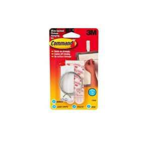 3m 17046 command tm picture mirror hanging kit 1 pk for Mirror hanging kit