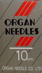 Organ Sewing Machine Regular Point Needles with Flat Shank - 15x1 - Size 11 for Fine to Medium Fabrics