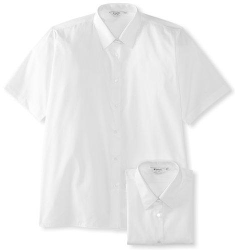 TRUTEX Girl's 2Pk Non Iron Short Sleeve Blouse, White, 36 inches
