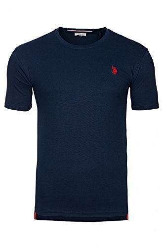 U.S. POLO ASSN. Round Neck Mens T-shirt Navy 38920, Size:XXL