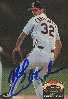 Mike Christopher Cleveland Indians 1992 Topps Stadium Club Autographed Hand Signed... by Hall+of+Fame+Memorabilia