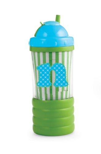 Mud Pie Initial Baby Boy Blue Initial Sip N' Munch, Letter N front-867337