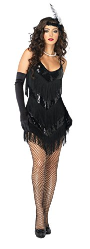 Leg Avenue Womens Roaring 20S Honey Flapper Girl Outfit Fancy Dress Sexy Costume