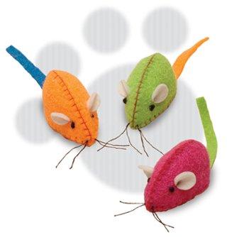 SmartCat Felt Mice Cat Toy