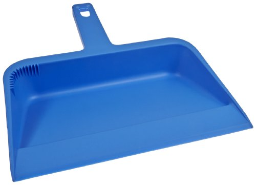 Impact 701 Plastic Dust Pan, 12 Length x 12 Width x 4 Height, Blue (Case of 12) green plastic gold pan with two types of riffles set of 3 gold pan and one sifter