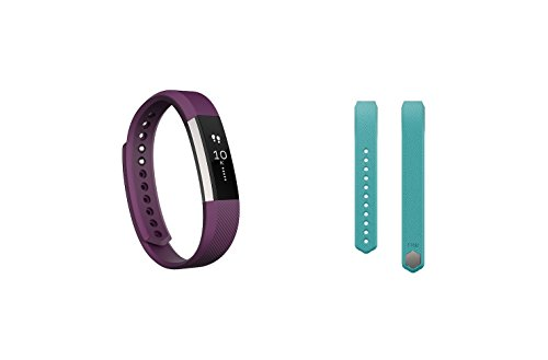 Fitbit Alta (Plum, Small) + Accessory Band (Teal, Small)