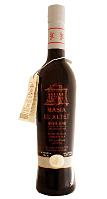 Masia el Altet Special High End- Award Winning Cold Pressed EVOO Extra Virgin Olive Oil, 2012-2013 Harvest, 17-Ounce Glass Bottle