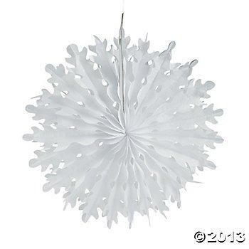 Xmas Tissue Snowflake Decorations 20