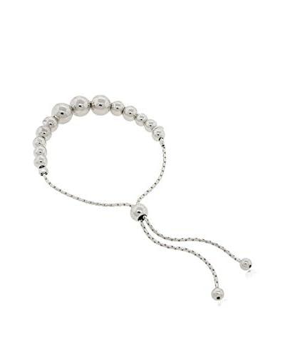 Peermont Jewelry Sterling Silver Graduated Ball Adjustable Friendship Bracelet