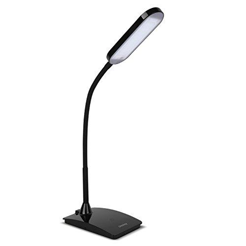 Deckey-6W-dimmbar-Schreibtischlampen-mit-3-Heilligkeiten-LED-Tischlampe-mit-flexiblem-Schwanenhals-TOUCHFELD-FX002-Schwarz