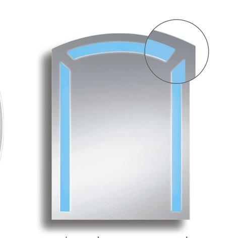Badspiegel BELEUCHTET Wandspiegel BELEUCHTUNG Spiegel LICHT Badwandspiegel aus Kristall YJ-700