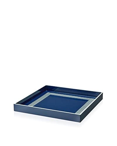 Happy Chic by Jonathan Adler Lacquer Decorative Greek Key Tray, Navy