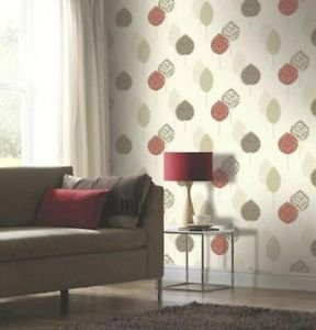 Arthouse Dante Motif Wallpaper - Red from New A-Brend