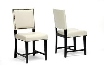 Nottingham Cream Modern Dining Chair with Chanasya Polish Cloth Bundle (Set of Two)