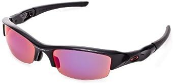 Oakley Flak Jacket (Asian Fit) Sunglasses Jet Black / OO Red Iridium Polarized