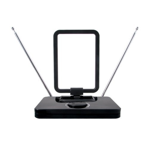 August DTA305 Amplified Digital TV Antenna – Portable Antenna with Signal Booster for USB TV Tuner / ATSC Television / DAB Radio – With Dipole and Telescopic Aerial