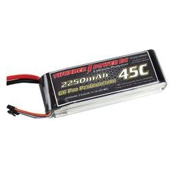 Thunder Power RC 2250mAh 3-Cell/3S 11.1V G6 Pro Performance 45C LiPo Battery