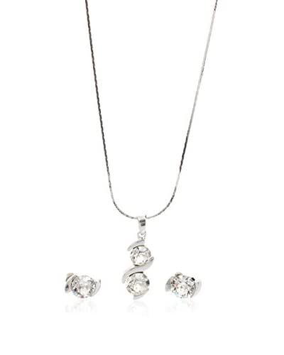 Laura Bruni Set Kette und Ohrringe  kristall