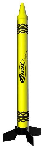Estes Yellow Star Crayon Rocket - 1