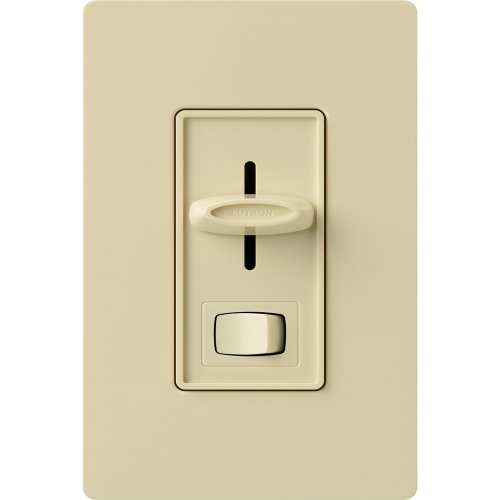Lutron SFSQ-LF-IV Skylark Slide-to-Off Fan and Light Control, Ivory