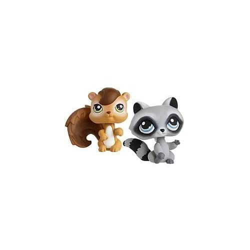 Littlest Pet Shop Pet Pairs Figures Chipmunk & Raccoon by Hasbro